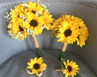 Customize Your Package, Sunflower Bouquet, Sunflower Bouquet, Sunflower Bridal Bouquet, Sunflower Bridesmaid Bouquet, Sunflower Wedding, Sun