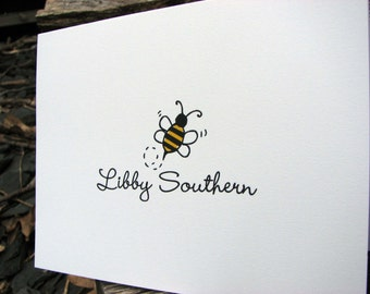 Bumble Bee Personalized Note Cards
