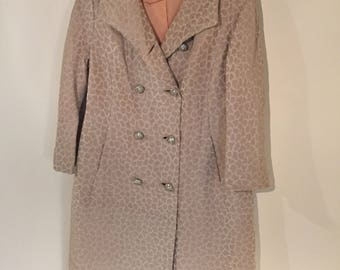 Vintage 1960s evening coat with rhinestone buttons