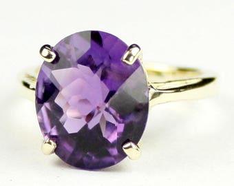 Amethyst, 14Ky Gold Ring, R055