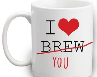 I Love Brew Mug | Gift | Mug | Funny