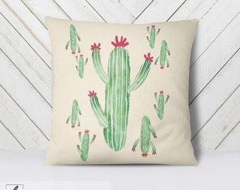 Cactus Pillow WITH Insert, Pillow Cover with Insert, Rustic Decor, Mother's Day,Makeup Girl,Cactus Lover, Desert Life, Desert Decor, Pillow