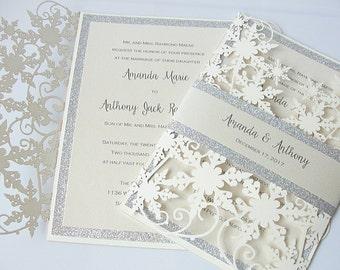 Winter Wedding Invitation Winter Theme Wedding Invitations