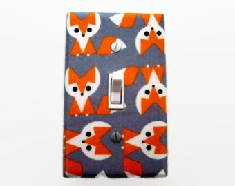 Fox Light Switch Cover - Woodland Switch Plate - Fox Nursery Decor - Gender Neutral