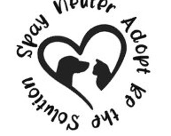 Spay, Neuter, Adopt Vinyl Decal