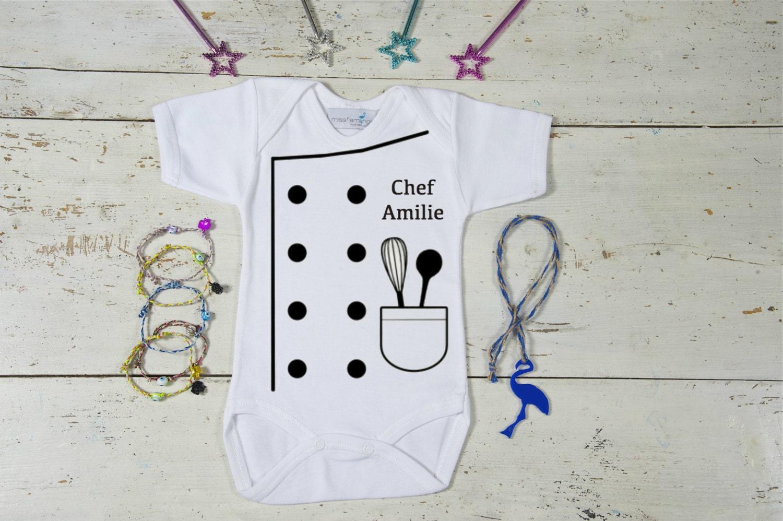 Little Chef Baby Onesie Custom Baby French Chef Onesie