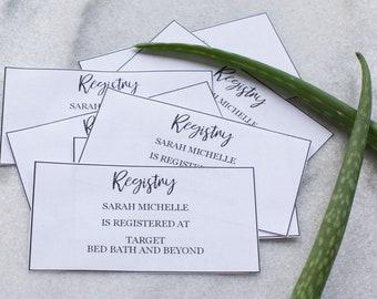 Baby Shower Printable Registry Cards, Wedding Printable Registry Cards, Template, Instant Download, Registry Cards, Invitation Package