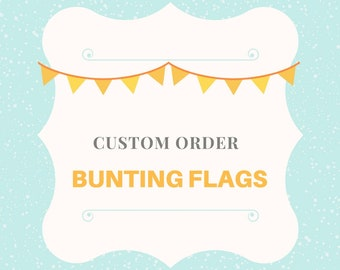 Custom fabric bunting flags, linen fabric nursery garland, Baby shower pennant banner, Wedding party decor, tea party garland