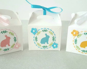 Easter favors / Easter favor boxes / easter candy boxes / easter treat boxes / easter egg hunt boxes / easter party favors easter bunny box