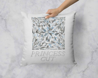 Princess Cut Diamond Pillow