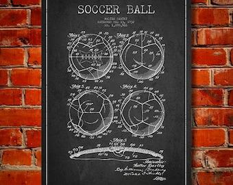 1932 Soccer Ball Patent, Canvas Print,  Wall Art, Home Decor, Gift Idea