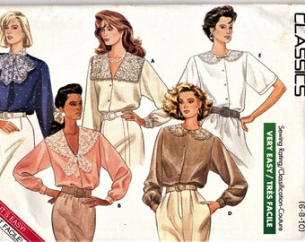 Butterick 5852   Misses Fashion Blouses     Size 6,8,10 or Size 12,14,16   Uncut