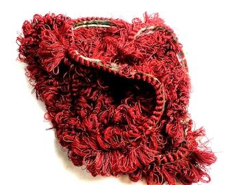 "Red Fringe Trim 84"" Long beautiful trim Cotton Trim"
