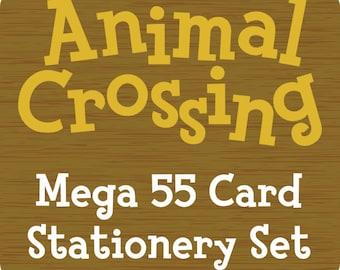 Animal Crossing Stationery Notecards - Mega 55 Card Set