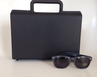 Ring/Bling Security Briefcase with Sunglasses -- Ring Bearer Pillow Alternative