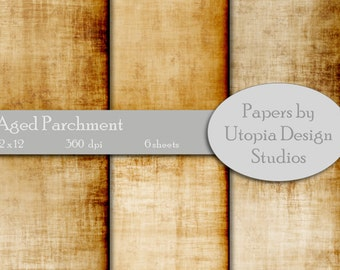 Digital Paper Pack - Aged Parchment