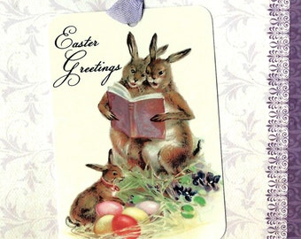 Easter, Rabbit Tags, Easter Tags, Bunny Tags, Easter Basket, Gift Tags
