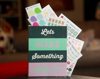 Let's Make Something Great Sticker Organizer