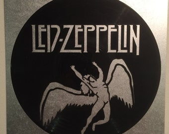 """Led Zeppelin vinyl record wall art - upcycled from an original 12"""" vinyl record"""