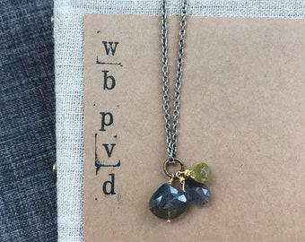 wildflower gemstone cluster necklace.