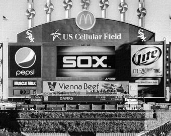 Chicago White Sox canvas Art / U.S. Cellular Scoreboard