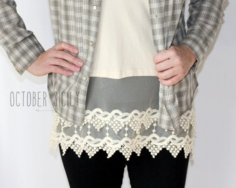 T1- Lace Shirt extender, tank top *STYLE 1*  S-XL