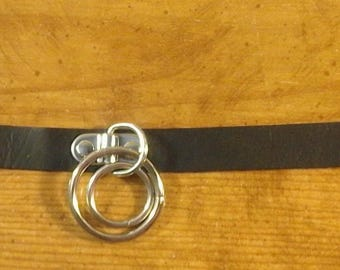 Black Collar Necklace with Double O rings 249713