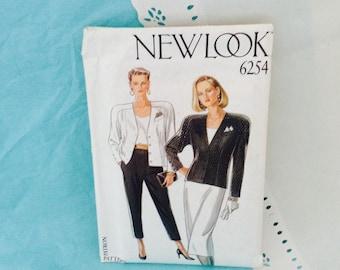New Look 6254 - English Pattern Company - Raglan Sleeves Jacket - Trousers & Skirt Pattern -  sizes 8-18 - vintage sewing - fashion forward