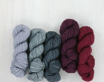 MINI SKEIN set: MINA, Fave Sock yarn