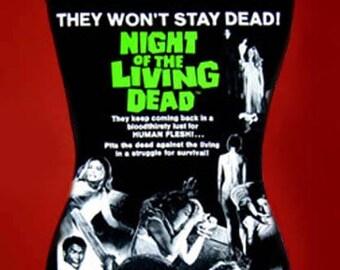 Night Of The Living Dead band diy halter top tank zombie horror movie  shirt  l xl