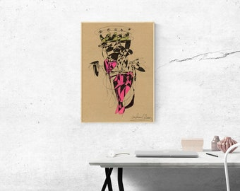 Confused Queen ( heart coming out ) : Giclee Print