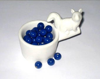 50 wooden beads for 10 mm cobalt blue pacifier