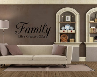 Family Life's Greatest Gift Vinyl Decal Wall Art Decor Sticker Free US Shipping