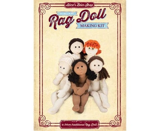 Sewing Pattern and Instructions - Traditional  Rag Doll Body - to make 54cm Rag Doll.