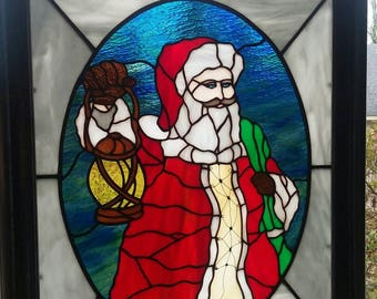 Stained Glass Pattern Santa Claus by MSGA