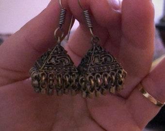 Vintage pyramid earrings
