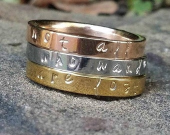 Personalized Name Ring. Name Ring Rose Gold. Name Ring Silver. Name Ring Gold. Stackable Name Ring. Custom Name Ring. Stacking Ring. For Mom