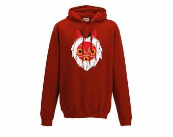Studio Ghibli Princess Mononoke inspired Mask hoodie