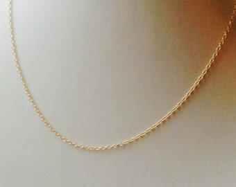 20 Inch 14K Gold Filled Chain Necklace, 1.1mm gold filled chain, gold necklace, gold filled chain, gold filled, DIY, Jewelry supply