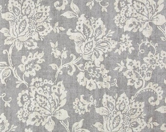 "One Round  Bolster Cover 39""L x 9""D  - Paisley Damask - Grey Taupe"