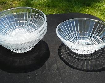 Vintage Cut Glass Dessert Bowls