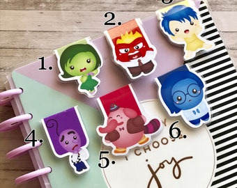 Inside Out Inspired Magnetic Bookmark, Emotion, Mood, Planner Accessory