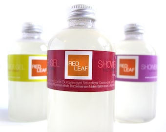 Body Wash, Vegan Body Wash, Shower Gel, Red Leaf Seattle
