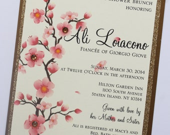 Cherry Blossoms Bridal Shower Invitation
