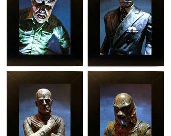 "Universal Monsters Toy Photographs 4x6"" Wolfman Creature Mummy Dark Universe"