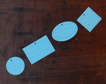 Letterpress Gift Tags - Set of 4