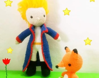 "PDF Pattern amigurumi doll, ""Sun Boy and The Fox"".UPDATED"