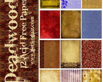 Deadwood Digital Paper Pack