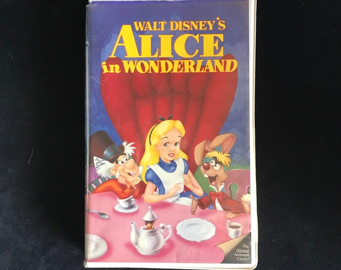 Alice In Wonderland Disney 1990's Vintage Movie VHS