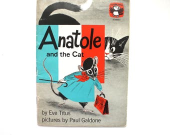 1957 Anatole and the Cat by Eve Titus Vintage Softcover Children's Book